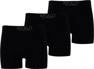 3 pak Apollo seamless heren boxer zwart