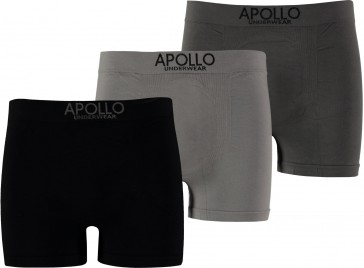 3 pak Apollo seamless heren boxer grijs