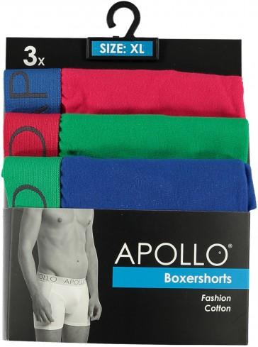 3 pak Apollo heren boxershort 102