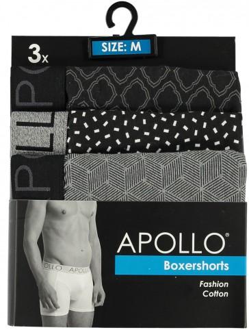 3 pak Apollo heren boxershort 104