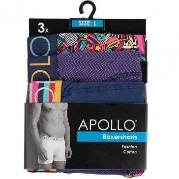 3 pak Apollo herenboxershort 107