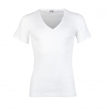 Beeren 100% katoen shirt diepe V hals korte mouw