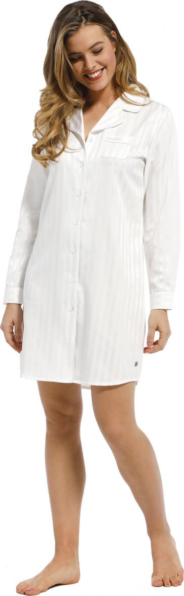 Dames nachthemd satijn Pastunette De Luxe 15212-310-6 snow white