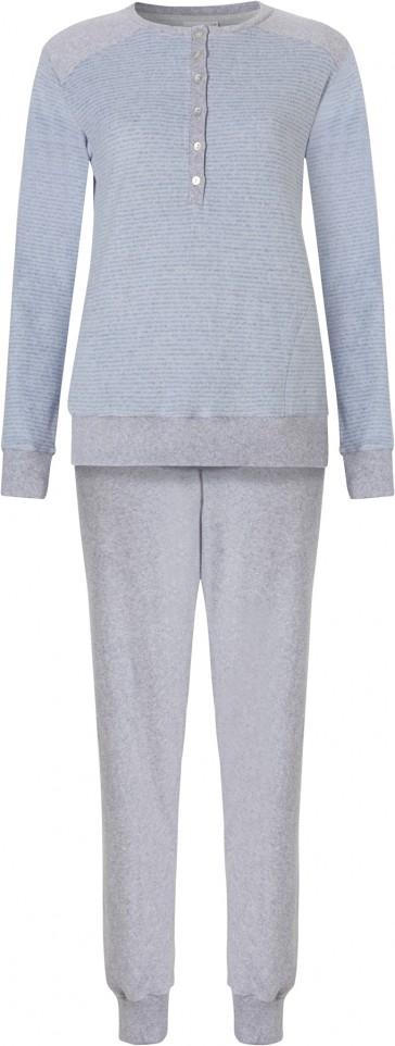 Dames pyjama badstof Pastunette 20182-111-4 donker blauw
