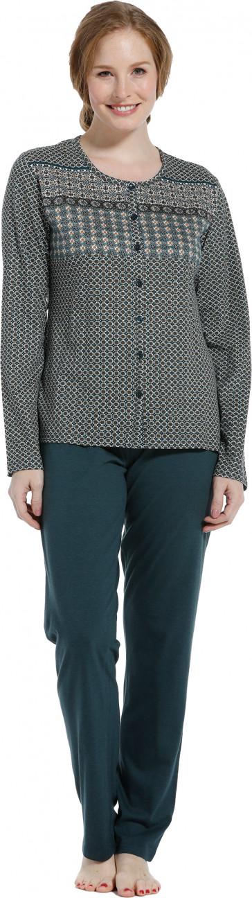 Dames pyjama doorknoop Pastunette 20202-148-6