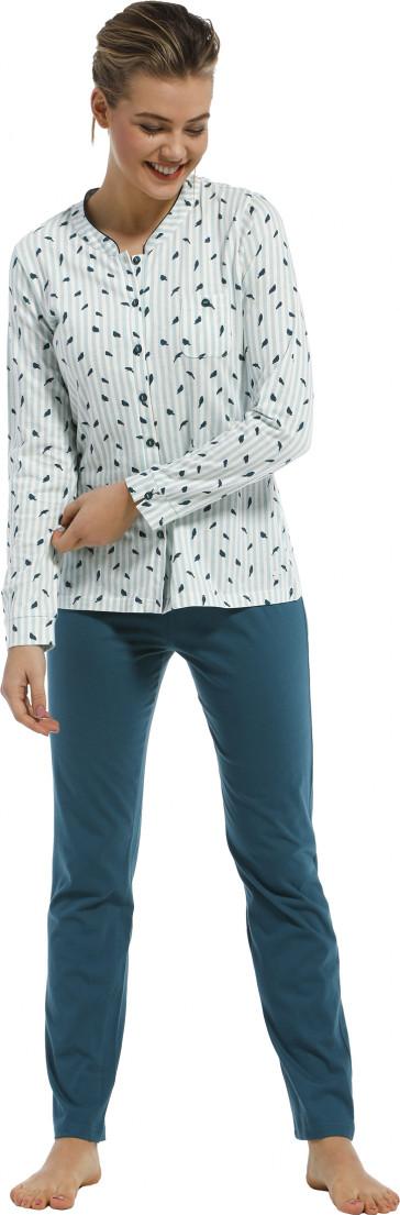 Dames pyjama doorknoop Pastunette 20212-145-6