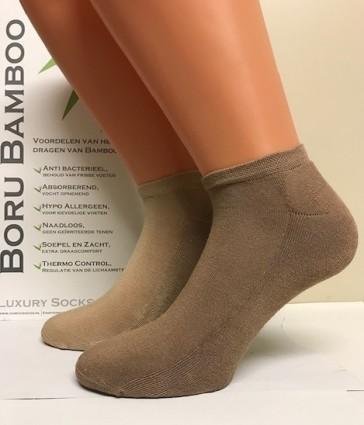 Boru Bamboe 2 paar Terry Foot Short sokken 2309