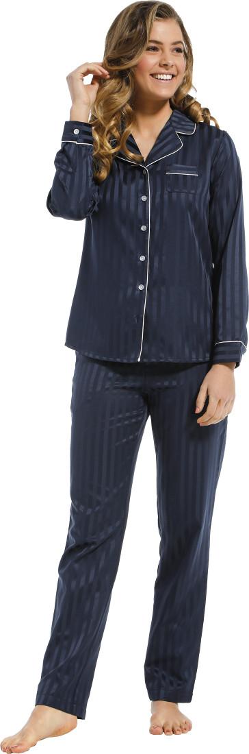 Dames pyjama satijn Pastunette De Luxe 25212-310-6 blauw