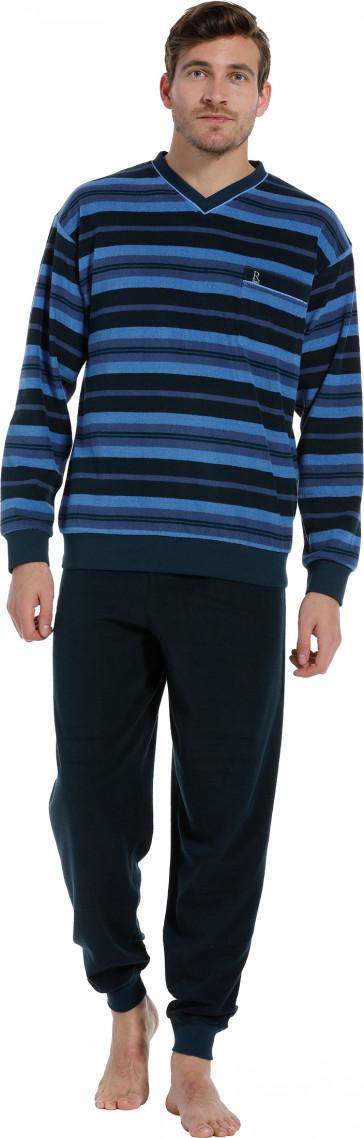 Heren pyjama Robson badstof 27202-711-2 blauw