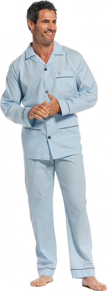 Heren doorknoop pyjama Robson 27211-701-6