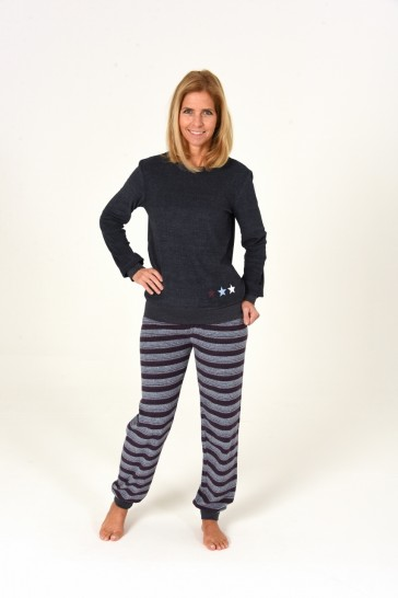 Dames pyjama badstof 59906
