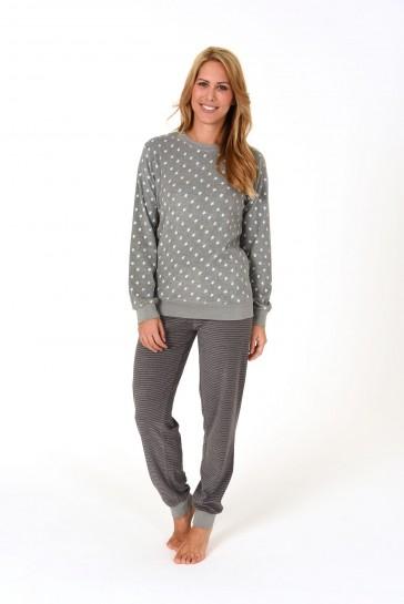 Dames pyjama badstof 59891