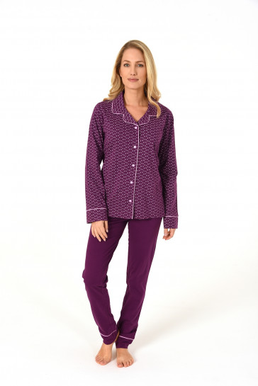 Dames pyjama doorknoop 65466