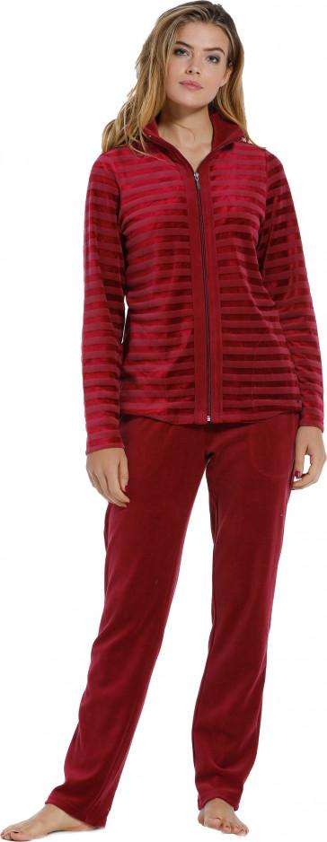 Dames huispak Pastunette De Luxe 85202-350-8 rood