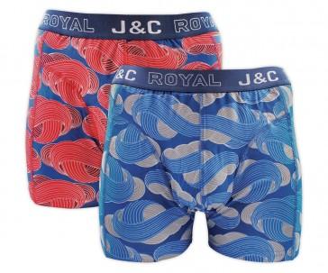 J&C heren boxer 2 pak 30051
