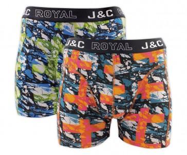 J&C heren boxer 2 pak 30056