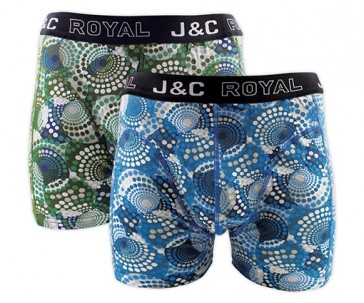 J&C heren boxer 2 pak 30057