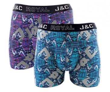 J&C heren boxer 2 pak 30059