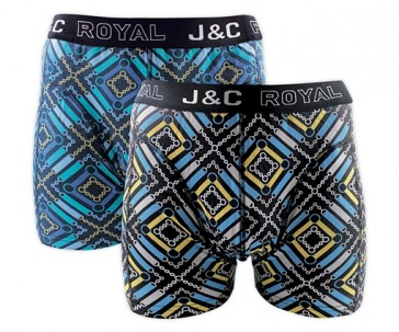 J&C heren boxer 2 pak 30060