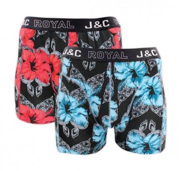 J&C heren boxer 2 pak 30062