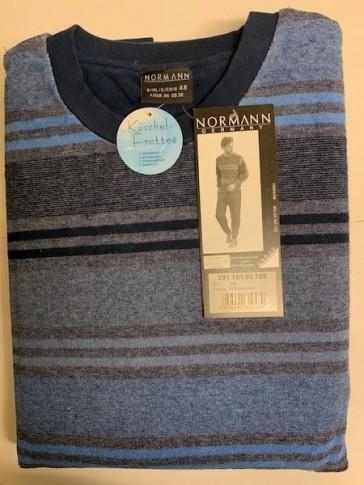 Heren badstof pyjama Normann 93708-52-Blauw