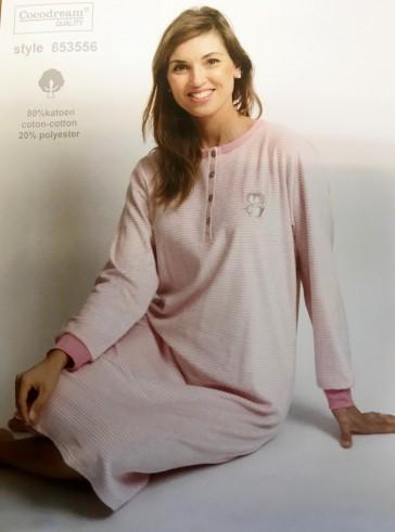 Dames nachthemd badstof velour 653556