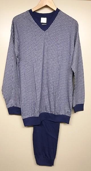 Heren pyjama 58658 blauw