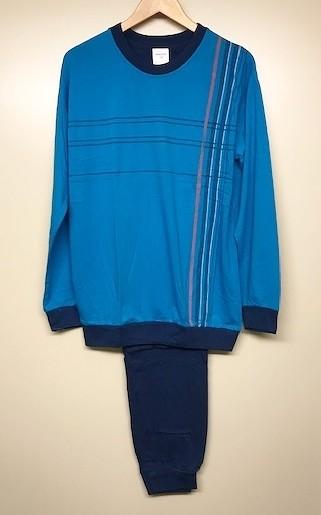 Heren pyjama 56416 blauw