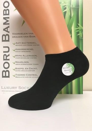 Boru Bamboe 2 paar sneakersokken met badstof zool 2307