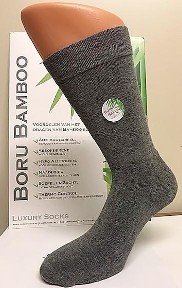 Boru Bamboe sok met badstof zool 2304