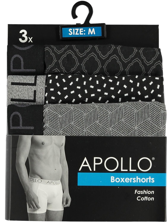 3 pak Apollo heren boxershort 104-L