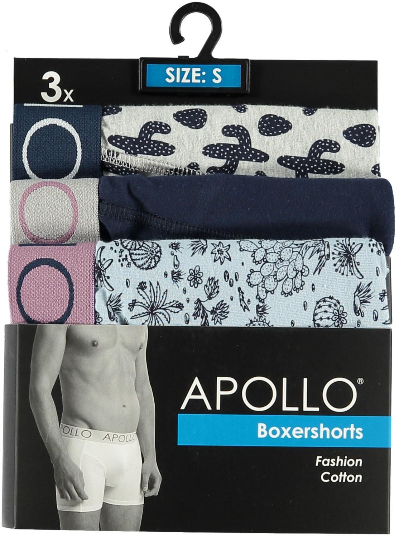 3 pak heren boxershort Apollo 105-L