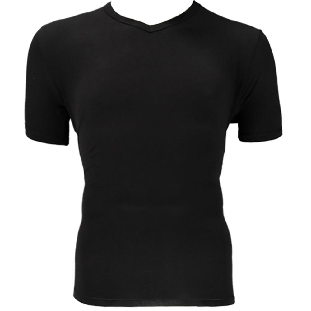 2 pak Apollo Bamboe shirt V hals zwart.-XL