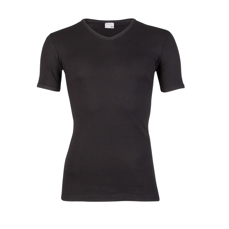Beeren 100% katoen shirt korte mouw M3000 V-hals-L-Wit