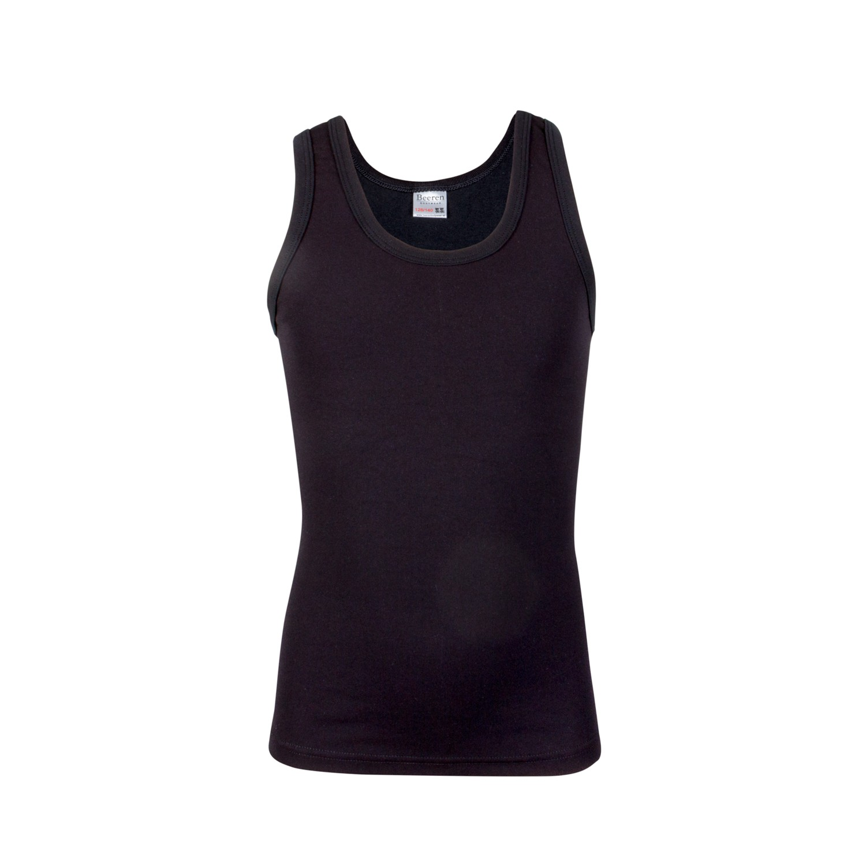 Beeren jongens hemd micro-tactel-104/116-Zwart