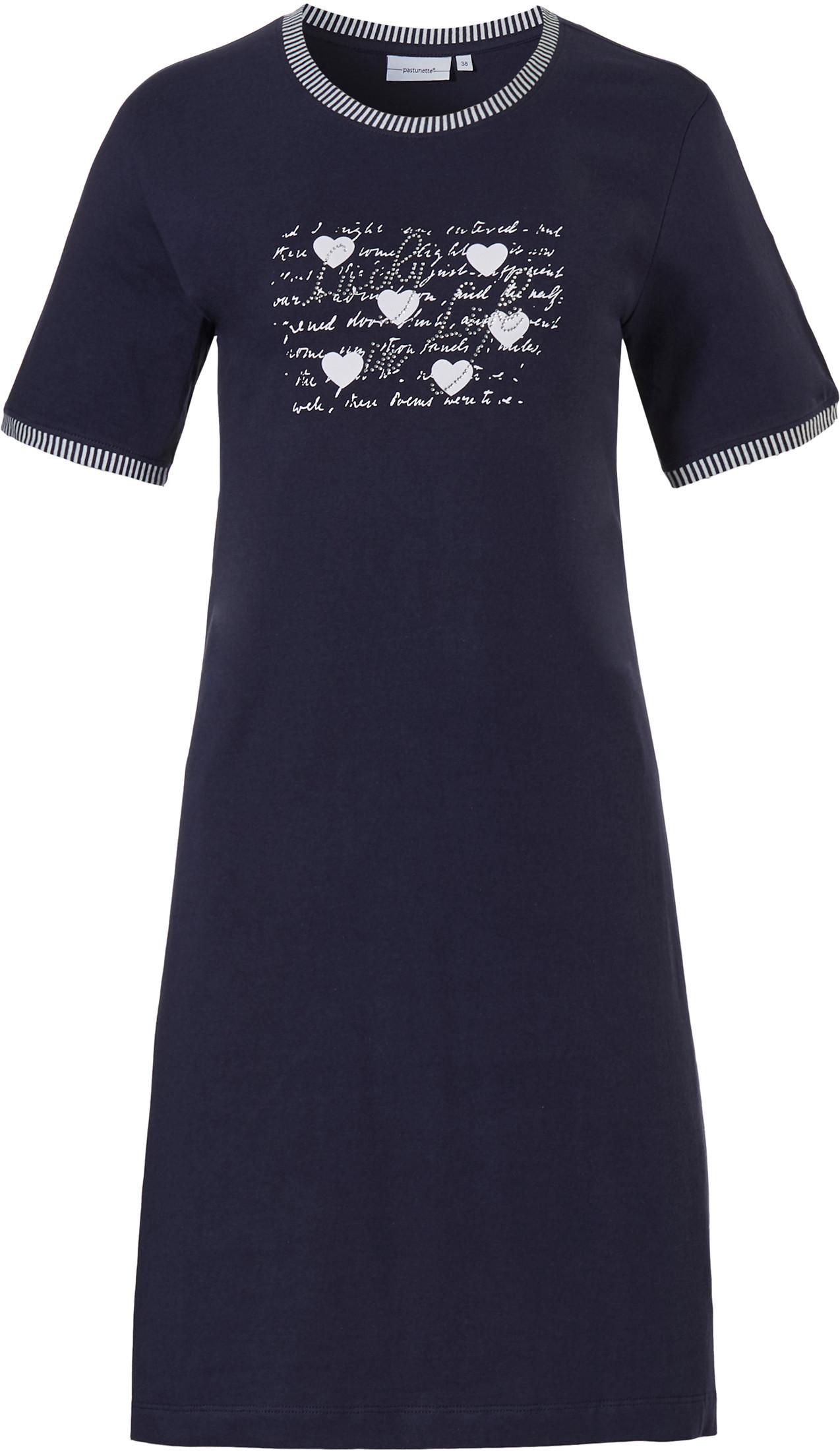 Dames nachthemd Pastunette 10211-136-3 blauw-46