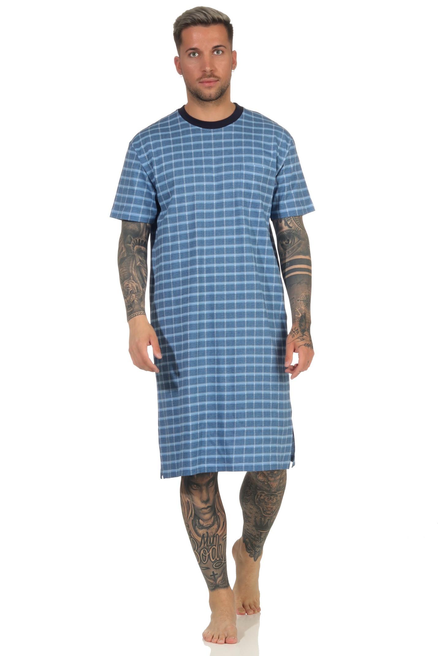 Heren nachthemd Normann 111 90502-52-54-Blauw