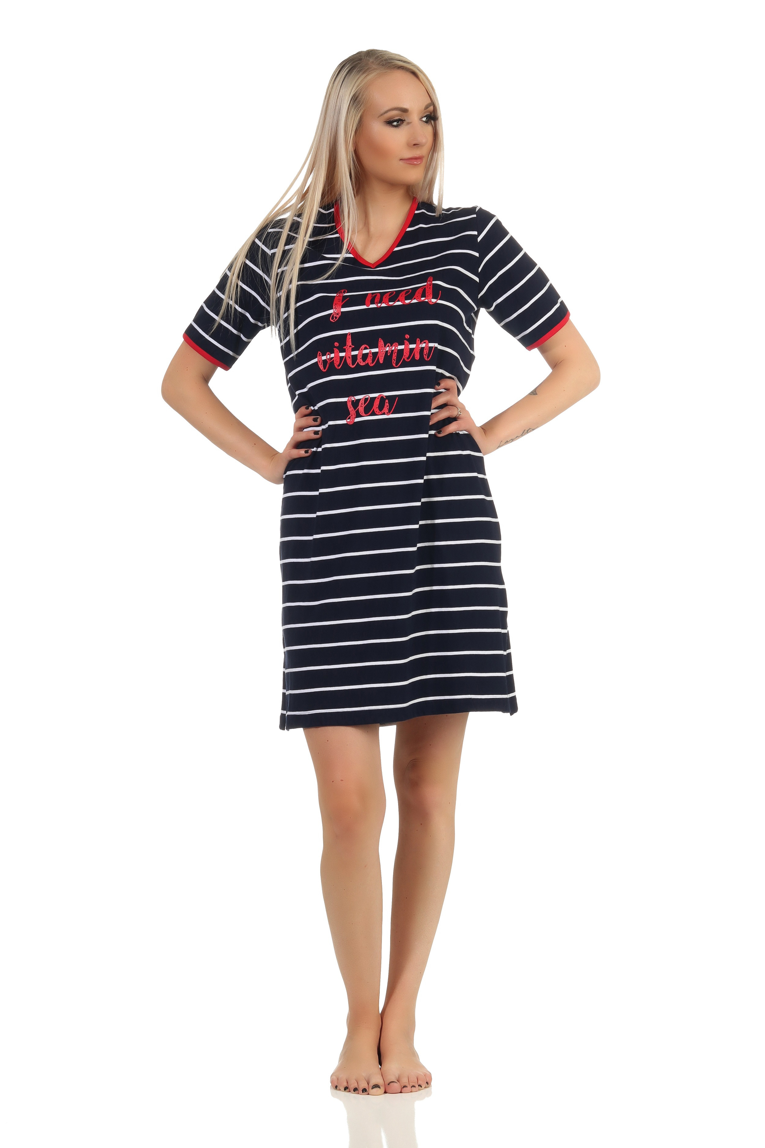 Dames nachthemd Normann 14 90 920-S 36/38-Donker Blauw