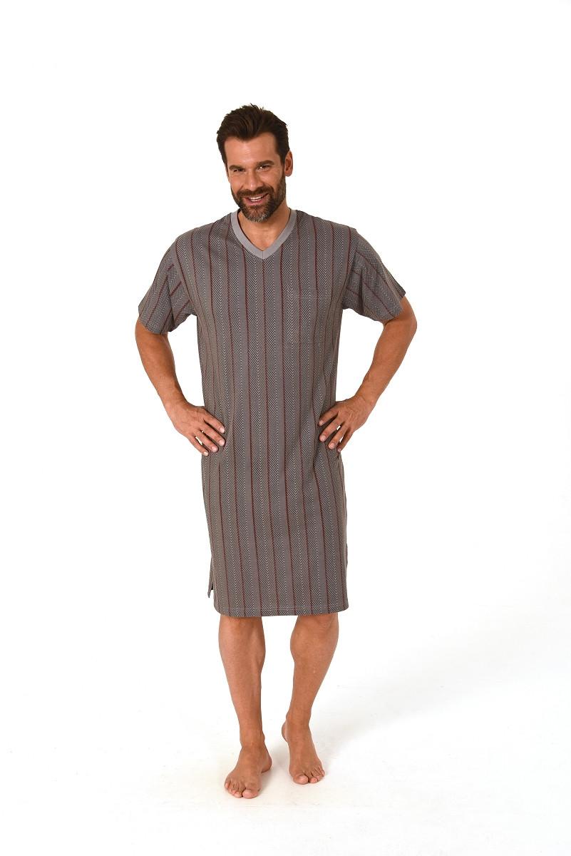 Heren nachthemd Normann 11190518-48-50-Blauw