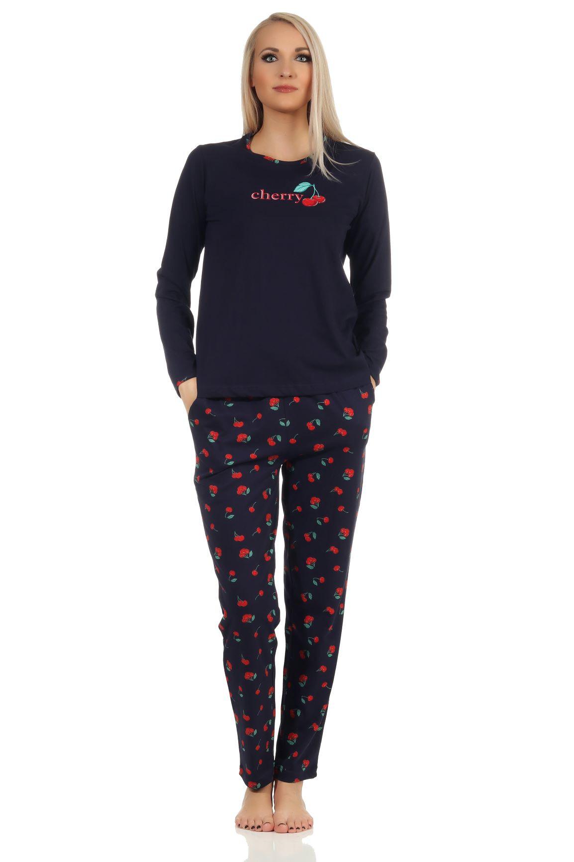 Dames pyjama Normann 20190535-L 44/46-Blauw