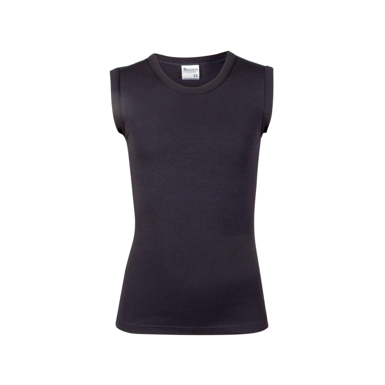 Beeren jongens tactel mouwloos shirt-104/116-Zwart