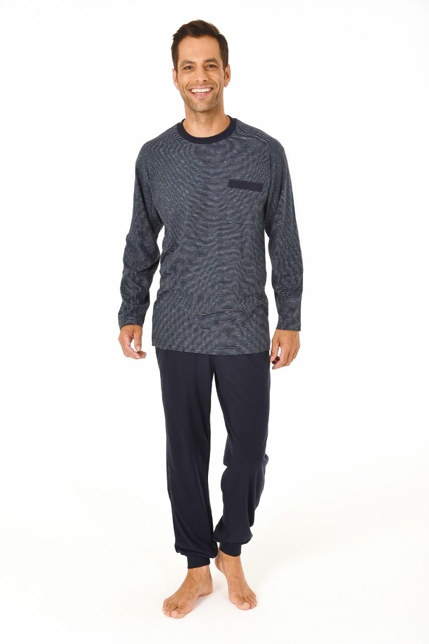 Van Van Gemert Ondermode Heren pyjama Normann 10190404-48-Donker Blauw Prijsvergelijk nu!