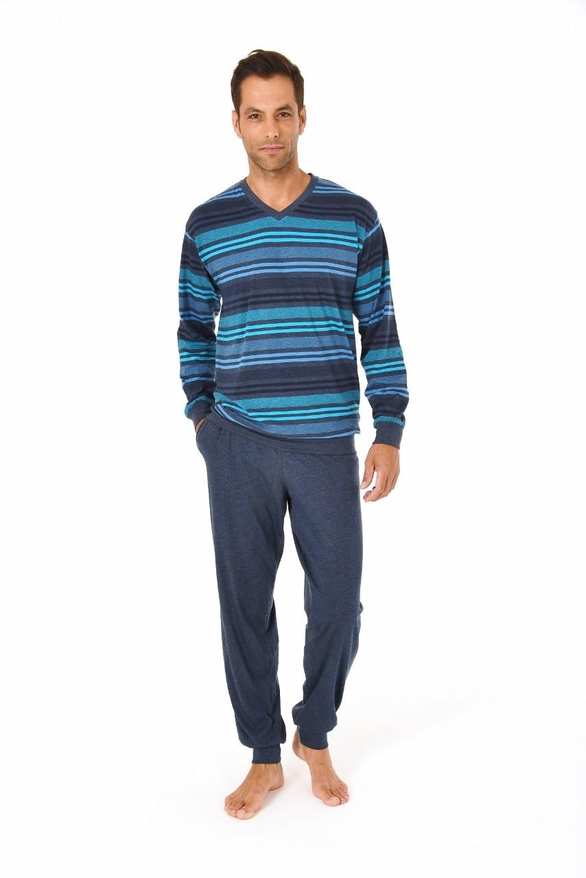 Heren pyjama Normann 10190961-48-Blauw