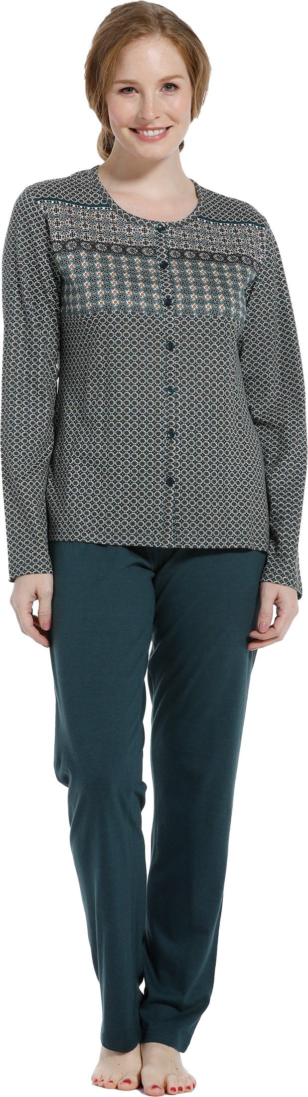 Dames pyjama doorknoop Pastunette 20202-148-6-38