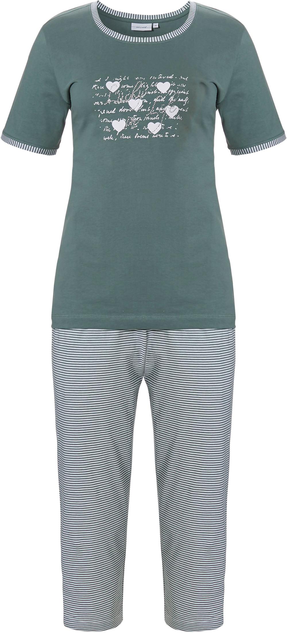 Dames pyjama Pastunette 20211-136-3 groen-44