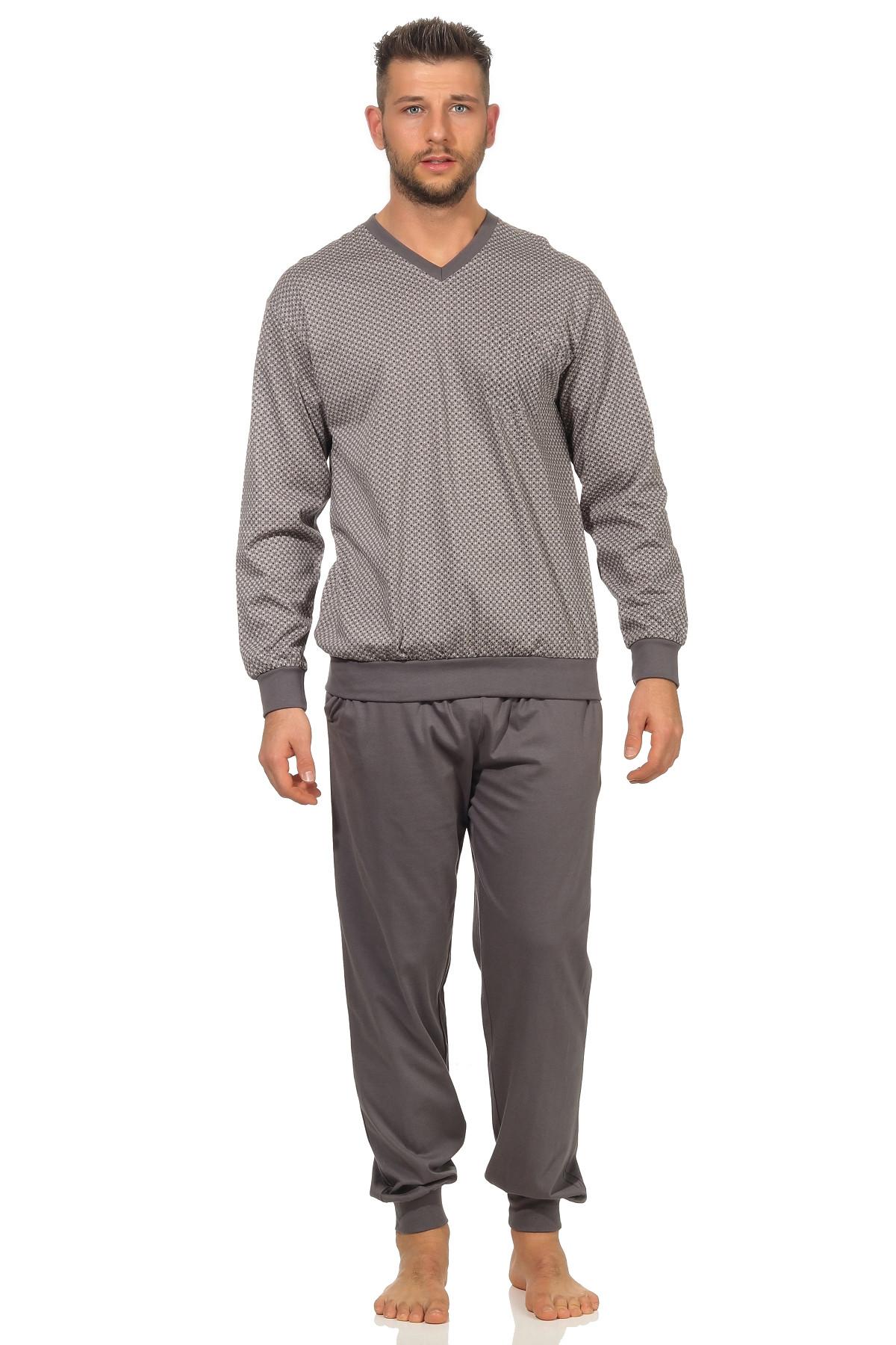 Norman heren pyjama New Men 67391-58-Grijs