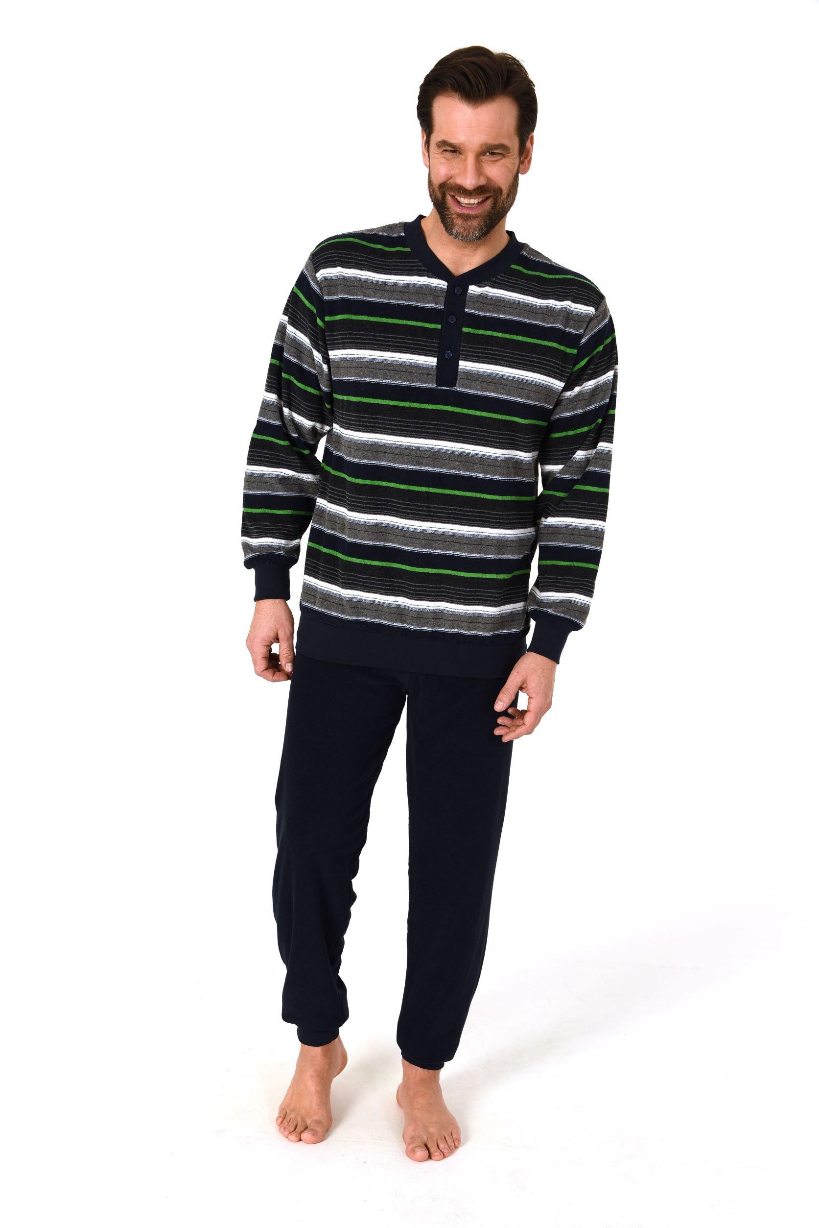Norman badstof heren pyjama 93518-M/50-Blauw