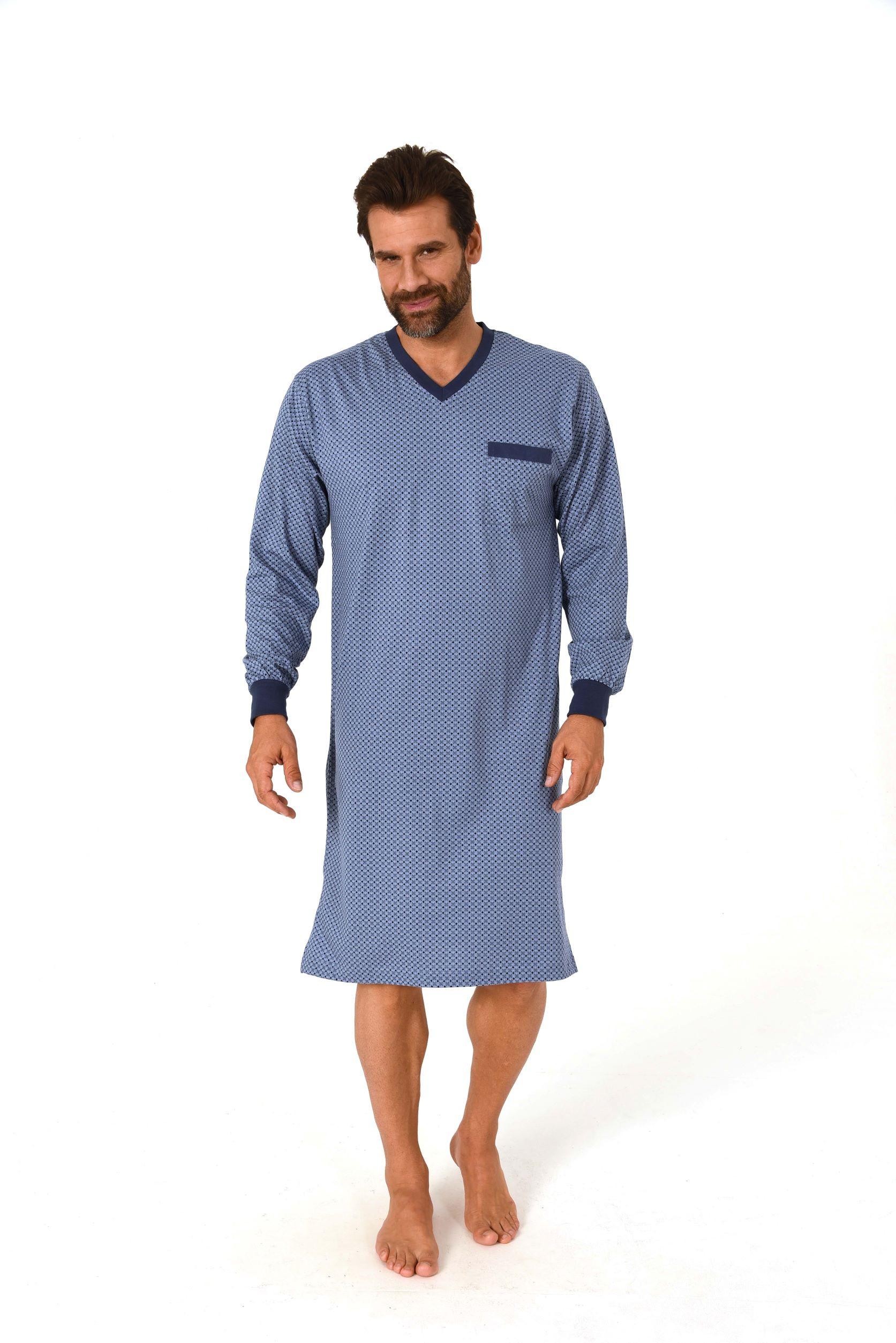 Norman heren nachthemd New Men 67393-54-Grijs