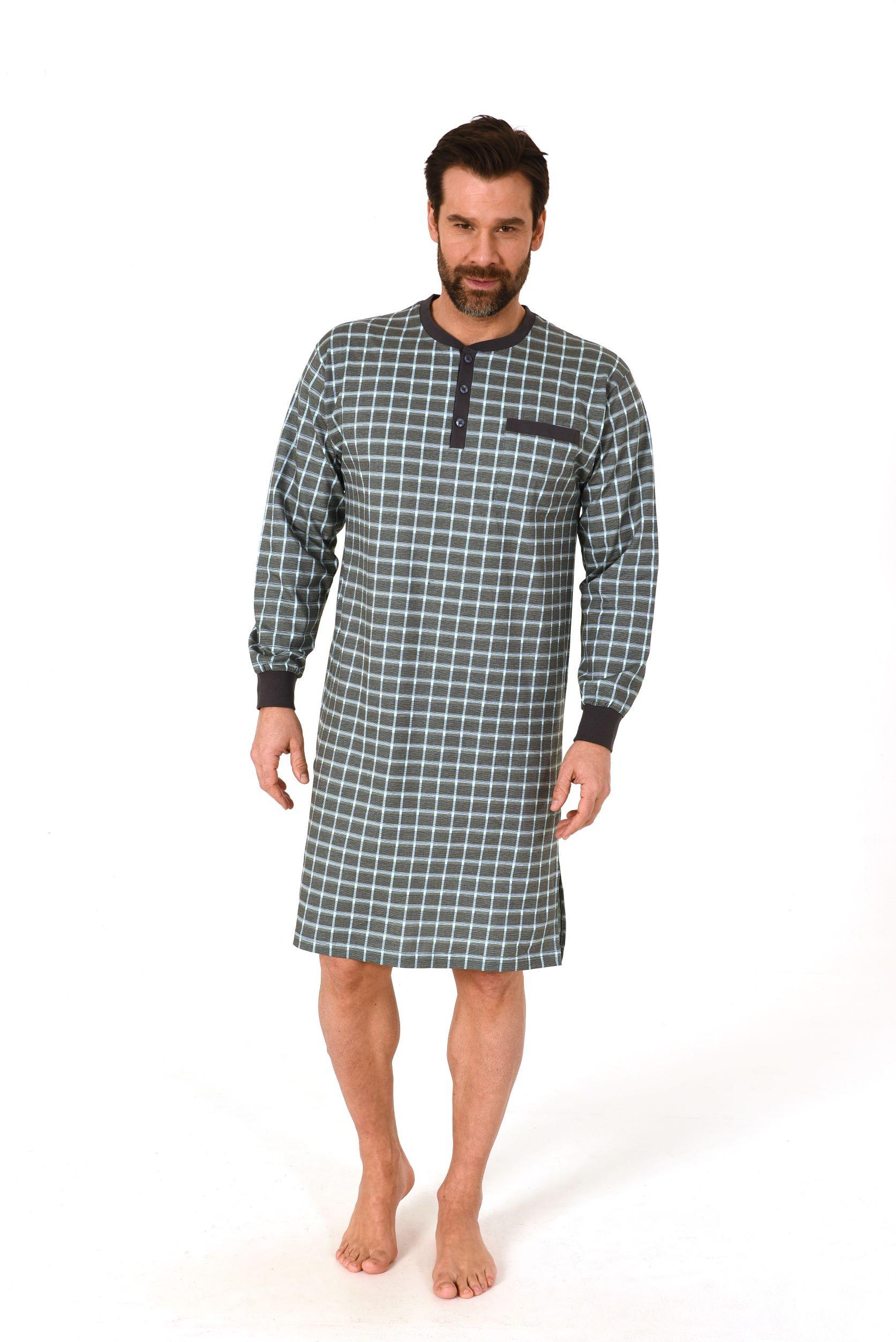 Norman heren nachthemd 110 90 502-56-58-Blauw