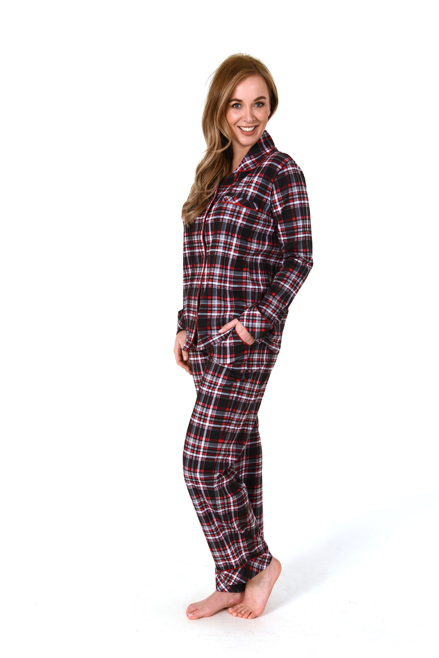 Norman dames pyjama flanel 201 90821-M 40/42